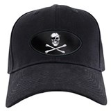 Black pirate Baseball Cap with Patch
