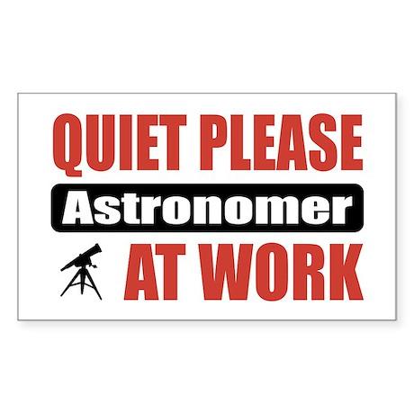 Astronomer Work Rectangle Sticker