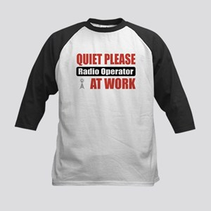Radio Operator Work Kids Baseball Jersey