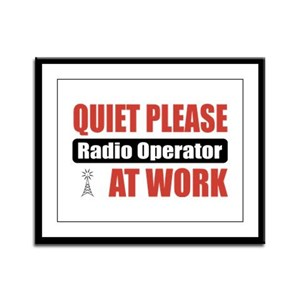 Radio Operator Work Framed Panel Print