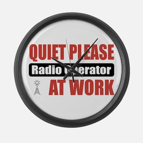 Radio Operator Work Large Wall Clock