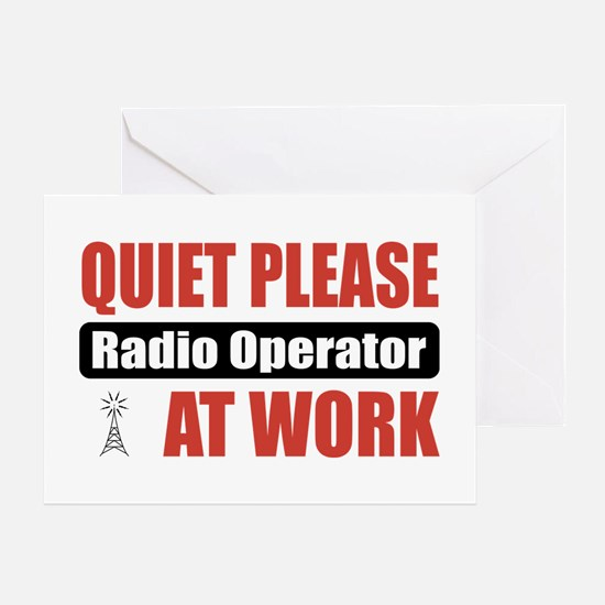 Radio Operator Work Greeting Card