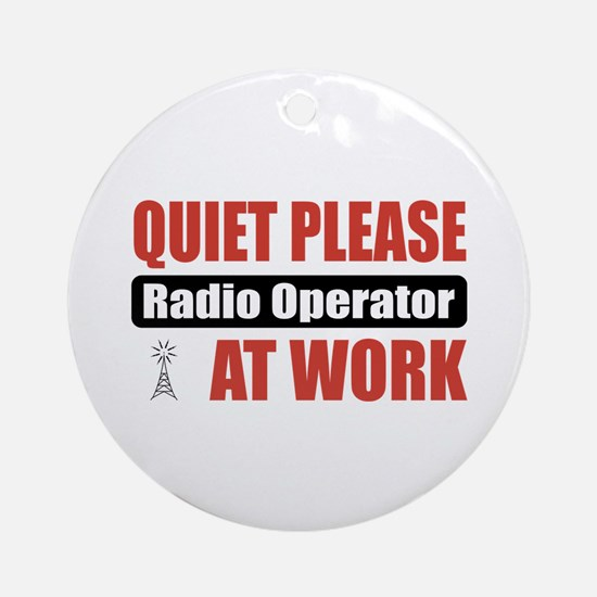 Radio Operator Work Ornament (Round)