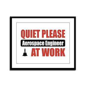 Aerospace Engineer Work Framed Panel Print