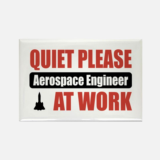 Aerospace Engineer Work Rectangle Magnet