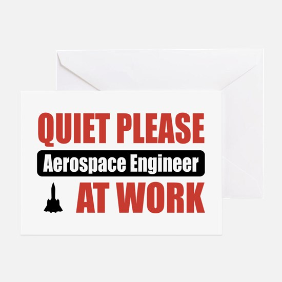 Aerospace Engineer Work Greeting Card