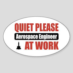 Aerospace Engineer Work Oval Sticker