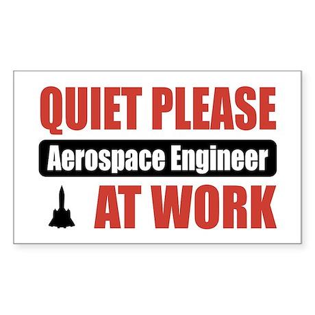 Aerospace Engineer Work Rectangle Sticker