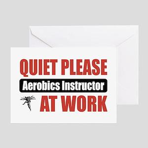 Aerobics Instructor Work Greeting Card