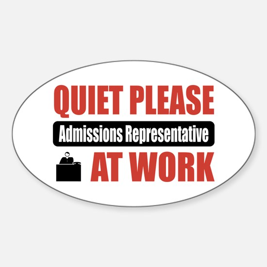 Admissions Representative Work Oval Decal