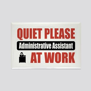 Administrative Assistant Work Rectangle Magnet