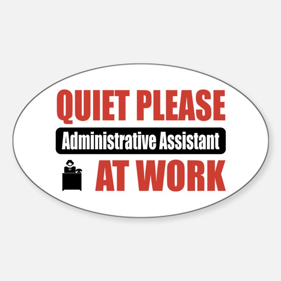 Administrative Assistant Work Oval Decal
