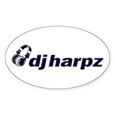 Dj Harpz - Oval Sticker