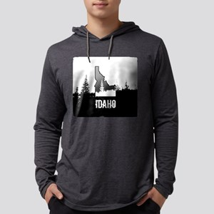 Idaho: Black and White Long Sleeve T-Shirt