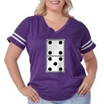 Domino 45 Women's Plus Size Football T-Shirt