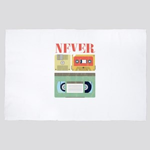 Never Forget Classic Tapes Cassettes V 4' x 6' Rug