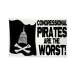 Congressional Pirates Rectangle Magnet
