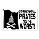 Congressional Pirates Rectangle Sticker 50 pk)