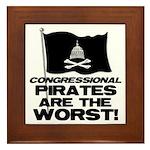 Congressional Pirates Framed Tile