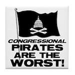 Congressional Pirates Tile Coaster