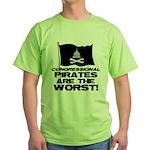 Congressional Pirates Green T-Shirt