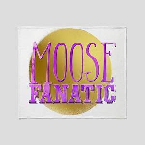 Moose fanatic Throw Blanket