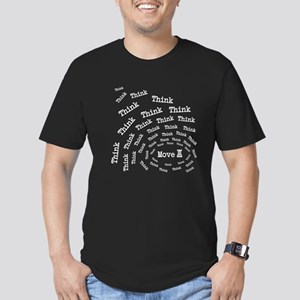 Chess Think & Move Men's Fitted T-Shirt (dark)
