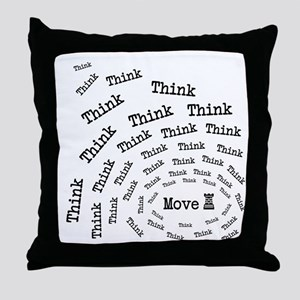 Chess Think & Move Throw Pillow