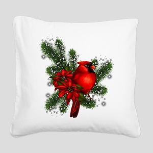 CARDINAL/PINE Square Canvas Pillow