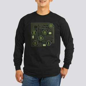 Chess Circuit Long Sleeve Dark T-Shirt