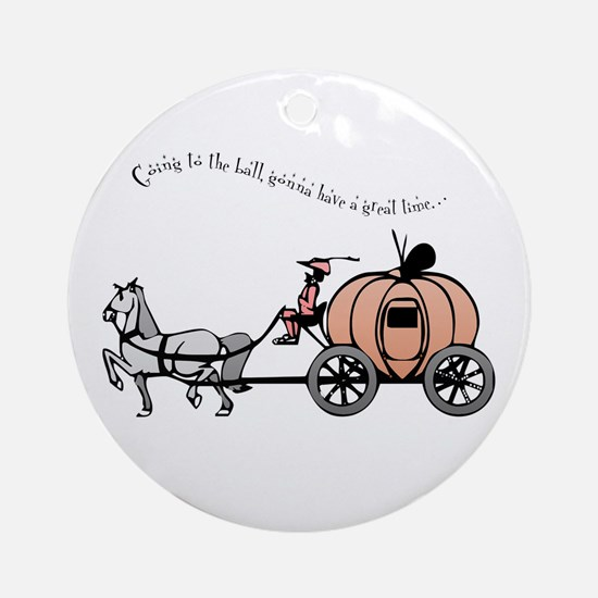 Going to the ball Ornament (Round)