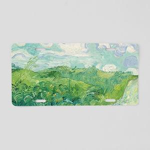Van Gogh Green Wheat Field Aluminum License Plate
