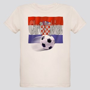 Soccer Flag Croatia (B) Organic Kids T-Shirt
