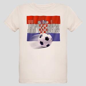 Soccer Flag Hrvatska (B) Organic Kids T-Shirt