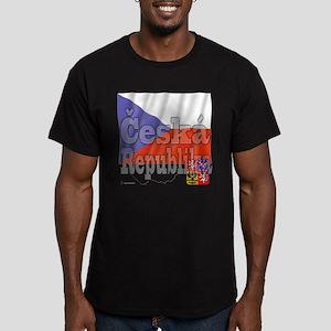 Flag Ceska Republika Men's Fitted T-Shirt (dark)