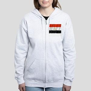 Pure Flag of Egypt Women's Zip Hoodie