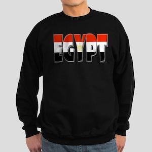 Word Art Flag of Egypt Sweatshirt (dark)