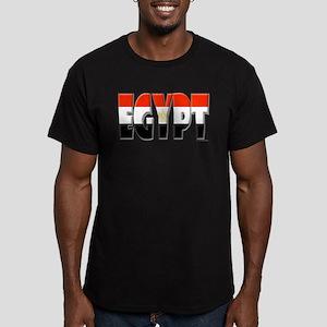 Word Art Flag of Egypt Men's Fitted T-Shirt (dark)