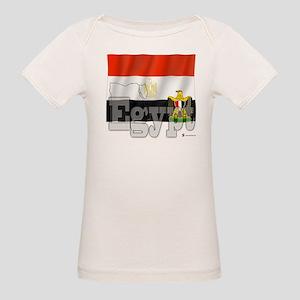 Silky Flag of Egypt Organic Baby T-Shirt