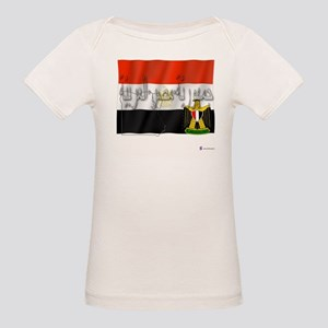 Silky Flag of Egypt (Arab) Organic Baby T-Shirt