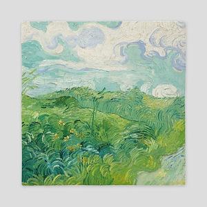Van Gogh Green Wheat Field Queen Duvet
