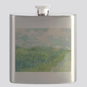 Van Gogh Green Wheat Field Flask