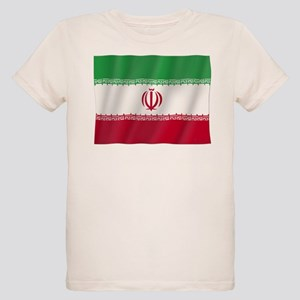 Pure Flag of Iran Organic Kids T-Shirt