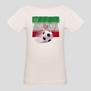 Soccer Flag Iran (B) Organic Baby T-Shirt