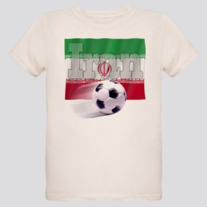 Soccer Flag Iran (B) Organic Kids T-Shirt