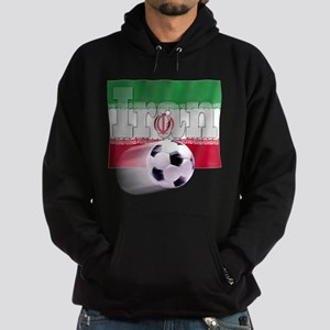 Soccer Flag Iran (B) Hoodie (dark)