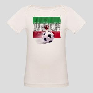 Soccer Flag Iran (Arabic) (B) Organic Baby T-Shirt