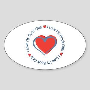 I Love My Book Club Oval Sticker