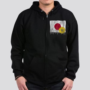 Flag of Nihon Koku / JP Zip Hoodie (dark)