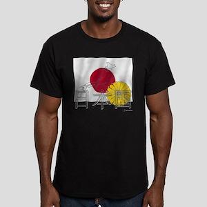 Flag of Nihon Koku / JP Men's Fitted T-Shirt (dark